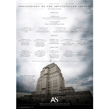 2015 Proceedings of the Aristotelian Society | Philosophy in London