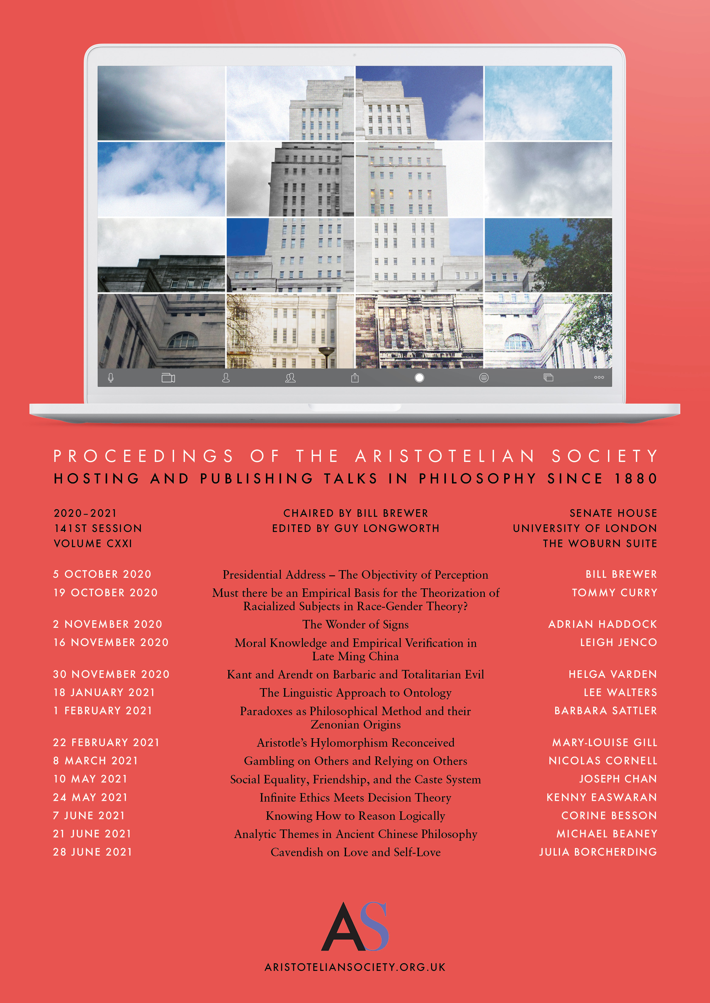 2020-2021 Proceedings Programme | Proceedings of the Aristotelian Society | Philosophy in London Since 1880