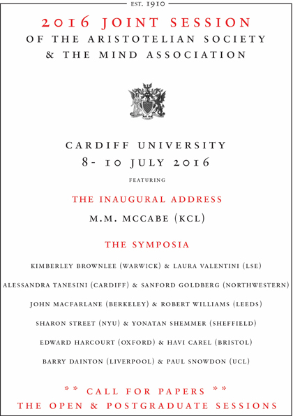 Cardiff University Joint Session Call for Papers