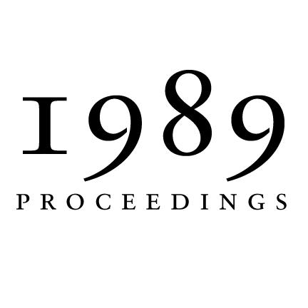 1989 Proceedings of the Aristotelian Society | Philosophy in London Since 1880